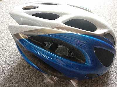 Cyklistická detská prilba veľkosť M (52 56 cm) modrá 733105922bc